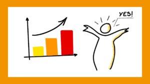 Joie devant l'évolution positive de son chiffre d'affaires