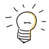 Ampoule idées de conférences ateliers